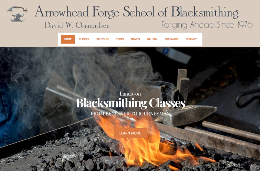 Arrowhead Forge website thumbnail 1