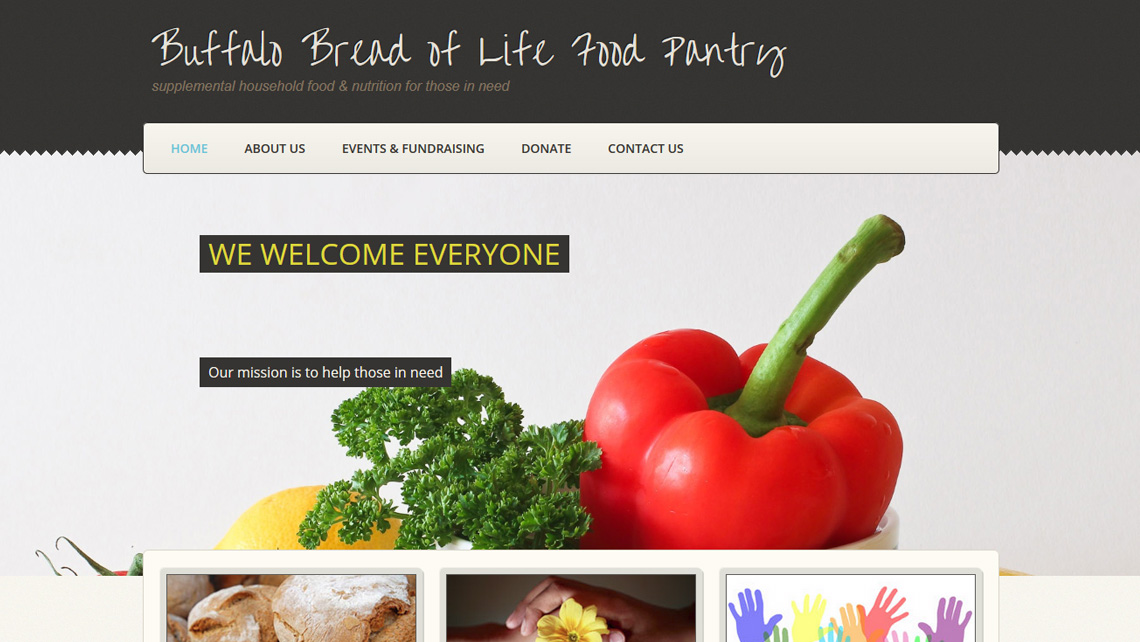Bread of Life Food Pantry website thumbnail 1