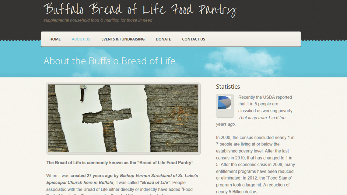 Bread of Life Food Pantry website thumbnail 2