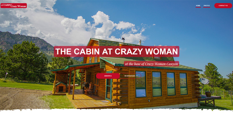 The Cabin at Crazy Woman Photo