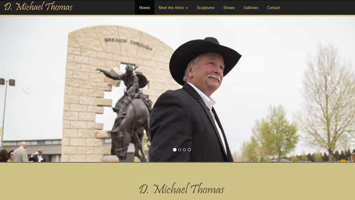 D. Michael Thomas website thumbnail 1