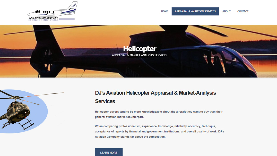 DJ's Aviation Company website thumbnail 3
