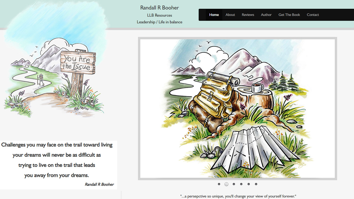 Author Randall Booher  website thumbnail 1